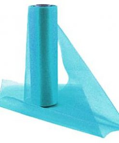 Turquoise Organza Sheer Roll
