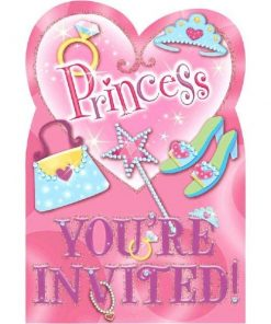 Princess Party Invitations Cards