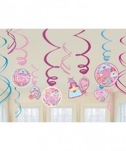 Prismatic Princess Hanging Swirl Decorations