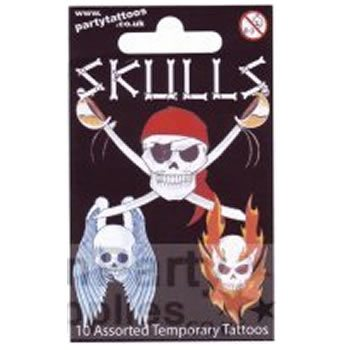 Temporary Tattoo Gift Pack - Skulls