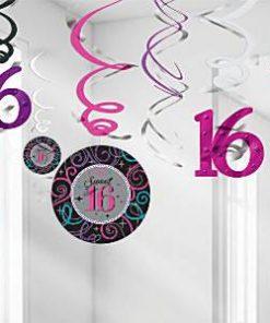 Sweet-16-Hanging-Swirl-Decorations