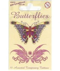 Temporary Tattoo Butterfly Gift Pack