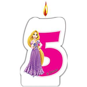 5th birthday candle disney p[rincess
