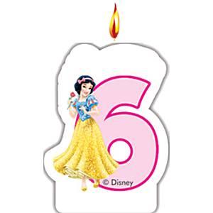6th birthday candle disney princess range