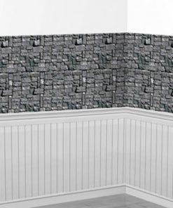 Stone Wall Room Backdrop Scene Setter - 9.1m