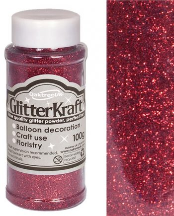 Burgundy Balloon Glitter