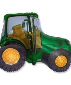 Green Tractor Foil Balloon