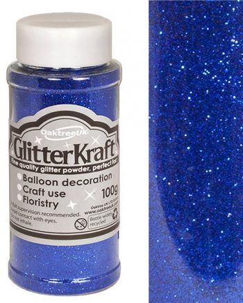 Royal Blue Balloon Glitter Tub
