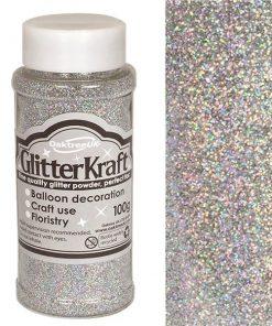Silver Balloon Glitter Tub
