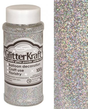 Silver Balloon Glitter Tub
