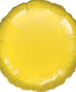 Yellow Round Balloon