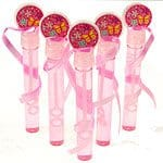 Pink Bubble Wands For Party Bags