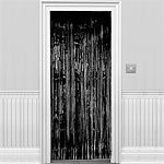Black Shimmer Door Curtain