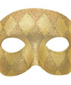Gold Harlequin Masquerade Mask