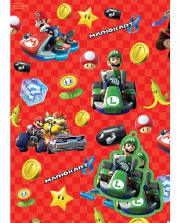 Super Mario Wrapping Paper & Tags