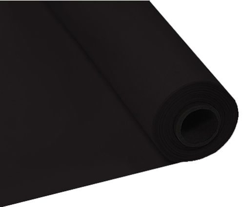 Black Plastic Table Banqueting Roll
