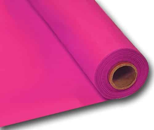 Hot Pink Party Plastic Banqueting Table Roll