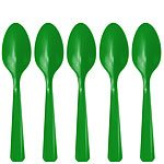 Green Plastic Party Spoons
