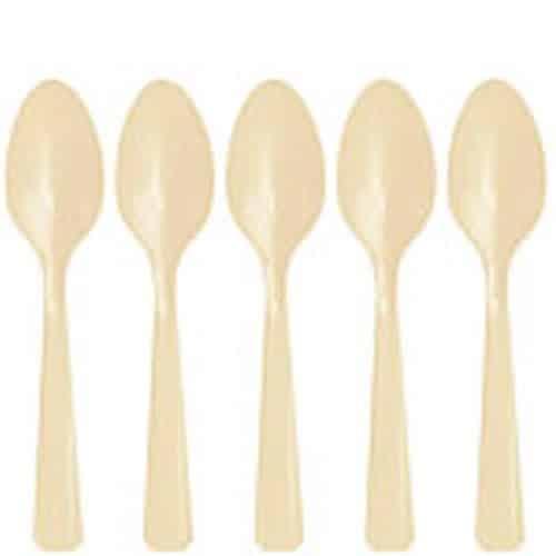Ivory Plastic Spoons