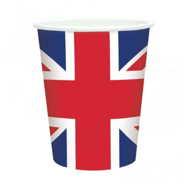Great Britain Flag Paper Cups