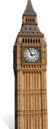 London Big Ben Cardboard Cutout