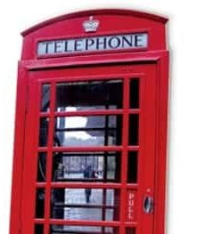 London Red Phone Box Cardboard Cutout