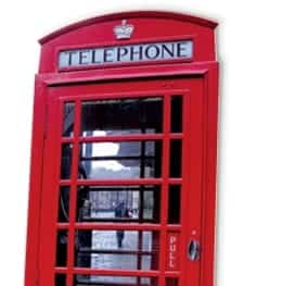 London Red Phone Box Cardboard Cutout