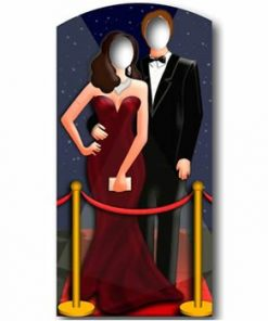Red Carpet Couple Stand In Cardboard cutout