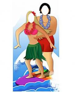 Surfer Couple Stand In
