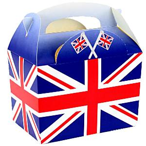 Union Jack Flag Food Box