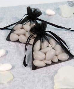 Black Organza Bags