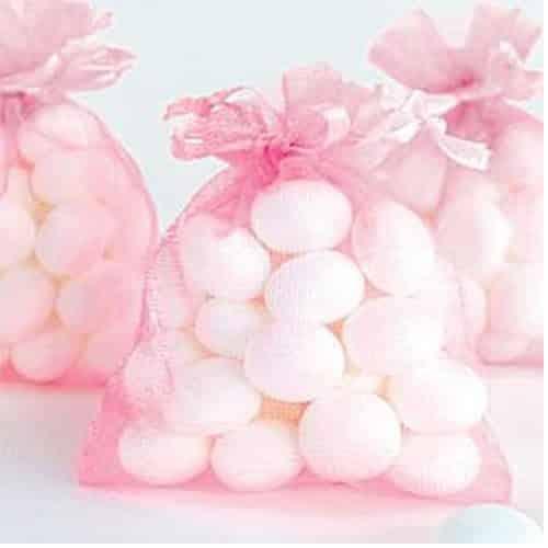 Bright Pink Organza Bags