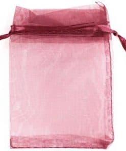 Burgundy Organza Bags