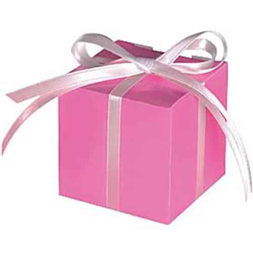 Hot Pink Cube Favour Boxes