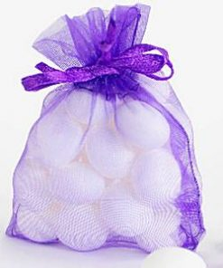 Purple Organza Bags