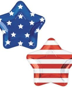 Celebrate USA Star Shaped Foil Plates