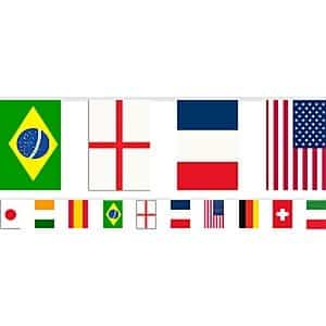 International Flag Party Multi Nations Flags Plastic Bunting