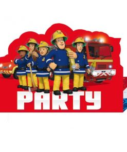 Fireman Sam Party Stand-up Invitations