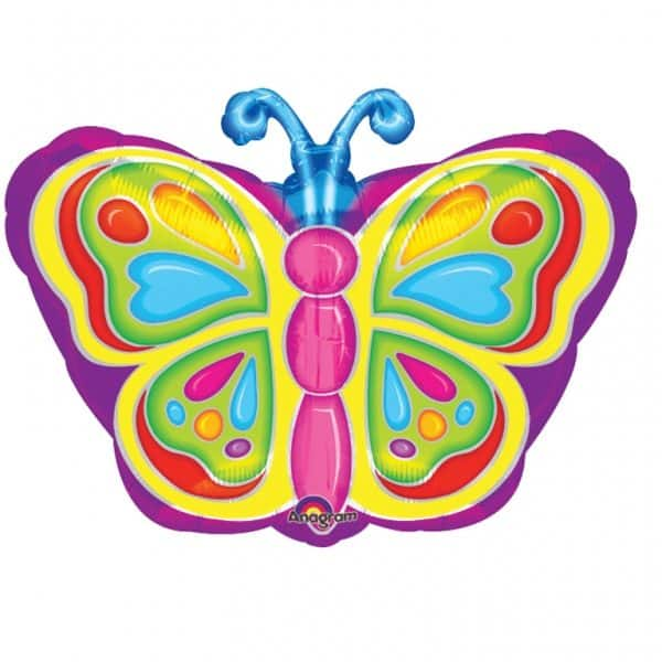Bright Butterfly Shaped Foil Balloon