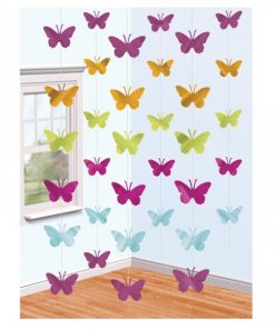 Butterfly Hanging String Decoration - 2.1m (6pk)