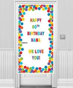 Primary Colour Personalisable Door Banner