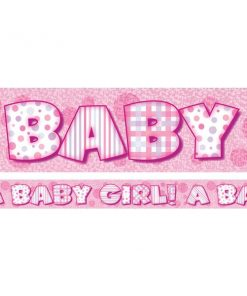 A Baby Girl Pink Banner