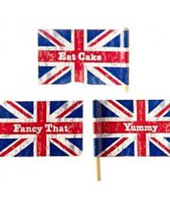 Union Jack Party Mini Flag Picks