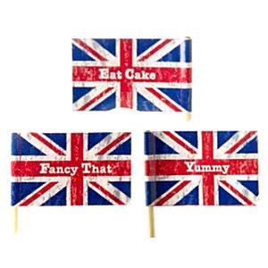 Union Jack Party Mini Flag Picks