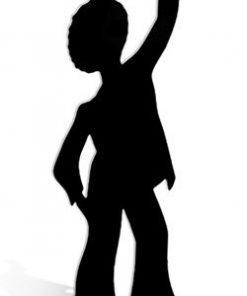 Disco Dancer Silhouette Boy Cardboard Cutout