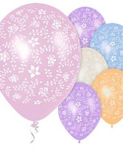 """Flowers All Over Printed 11"""" Latex Balloons"""