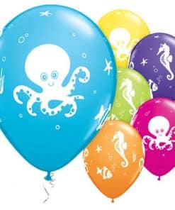 Sea Creatures Printed Latex Balloons