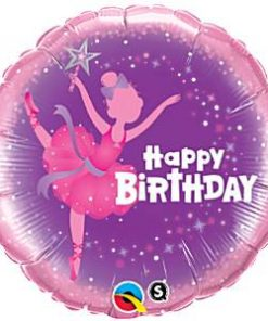 Ballerina Happy Birthday Foil Balloon