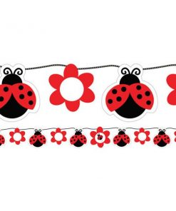 Ladybug Party Customisable Ribbon Banner