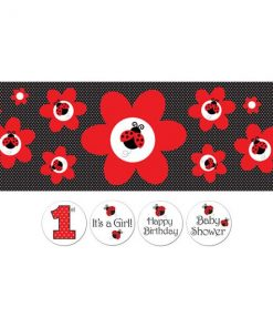 Ladybug Party Giant Customisable Banner
